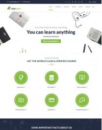 Template HTML5 Cursos, Faculdades, e Treinamento Edugate