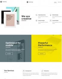 Template HTML5 Web Design, Desenvolvedores de Web Elementy