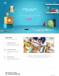 Template HTML5 Site Para Web Design, Multi Page Eve