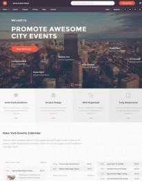 Template HTML5 site Para Festas e Eventos Smart Events Theme