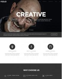 Template HTML5 Web Design, Desenvolvedores de Web, Feelo