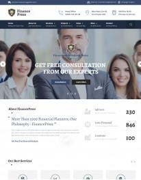 Template HTML5 Para Financeiras e Economia Finance Press