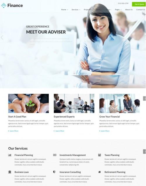 Template HTML5 Para Financeiras e Economia Finance