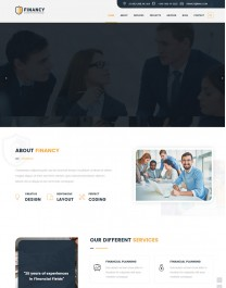 Template HTML5 Site Para Financeiras e Economia Financy