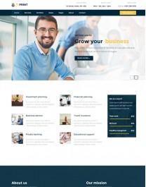 Template HTML5 Site Para Financeiras e Economia Fiprint