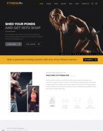 Template HTML5 Site Para Academias e Personal Fitnesspro