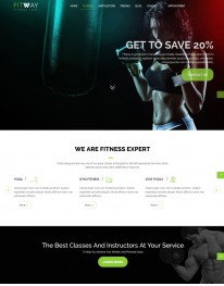 Template HTML5 Site Para Academias e Personal Fitway