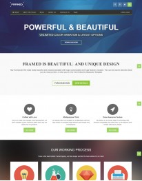 Template HTML5  Para Web Design, Multi Page Framed