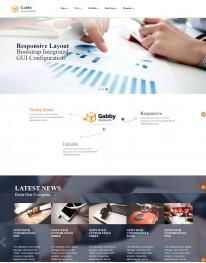 Template HTML5 Site Para Representação Comercial Gabby