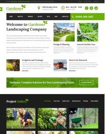 Template HTML5 Site Para Jardinagem, Jardineiro, Gardener