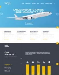 Template HTML5 Para Prestação de Serviços Global Logistcs