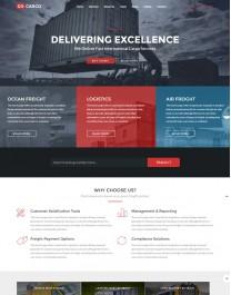 Template HTML5 Sites Para Prestação de Serviços Go Cargo