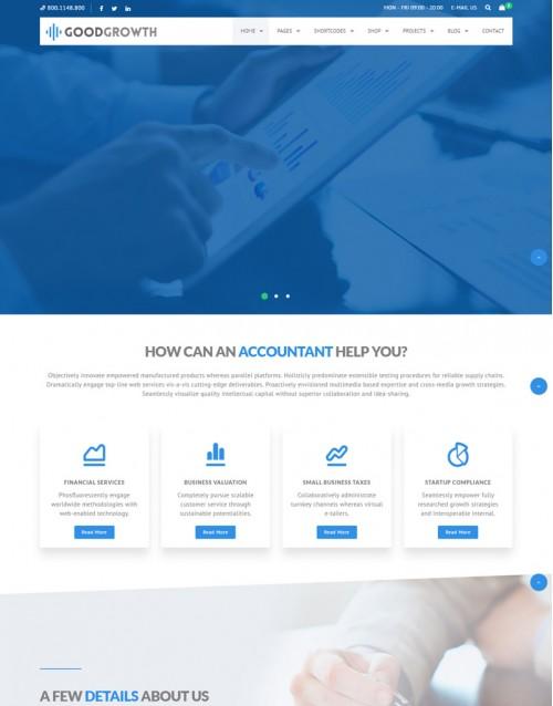 Template HTML5 Site Para Financeiras e Economia Goodgrowth
