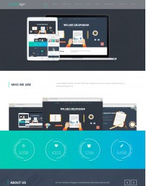 Template HTML5 Financeiras e Economia, One Page Graphsign