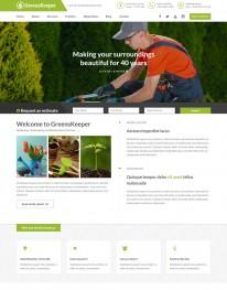 Template HTML5 Site Para Jardinagem, Jardineiro Greenskeeper