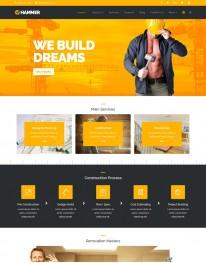 Template HTML5 Construtoras Construção Civil Hammer