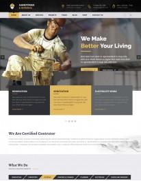 Template HTML5 Construtoras Construção Civil Handyman