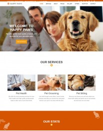 Template HTML5 Recomendado Para Pet Shop HAPPY PAWS