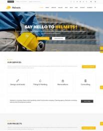 Template HTML5 Construção Civil, Multi Page Helmets