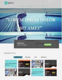 Template HTML5 Viagens e intercâmbio 4Useri para sites