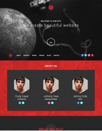 Template HTML5 Web Design 6Cors para desenvolvedores web