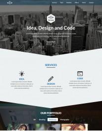 Template HTML5 Web design e negócios Arrow One Page
