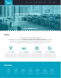 Template HTML5 Agência de Publicidade One Page Blue Agency