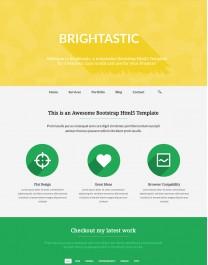 Template HTML5 Fotografia e Imagens Brightastic One Page