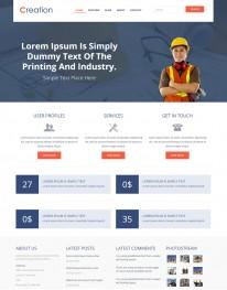 Template HTML5 Prestação de Serviços e Construção Creation