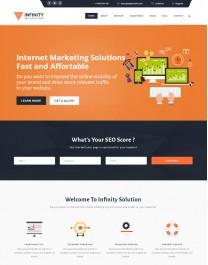 Template HTML5 Site Para Financeiras e Economia Infinity