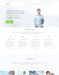 Template HTML5 Assessorias em Negócios, one Page Joeby