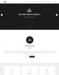 Template Joomla Para Web Design, Multi Page Ariva3.x