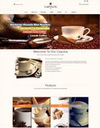 Template Joomla Restaurantes e Cafeterias Capulus 3.x