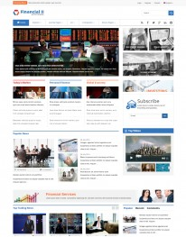 Template Joomla Financeiras e Contadores Financial II 3.x