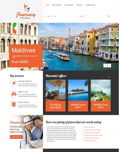 Template Joomla Agencia de Turismo Journey 3.x