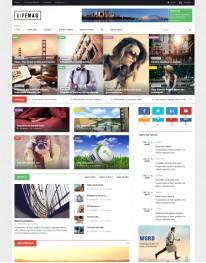 Template Joomla Noticias e Jornais LifeMag 3.x