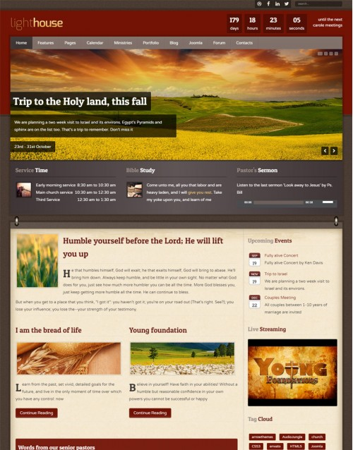 Template Joomla Agricultura Light House 3.x