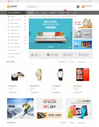 Template Joomla Virtue Mart Market 3.x