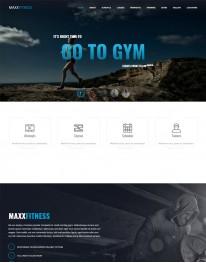 Template Joomla Academias e Esportes Maxx Fitness 3.x