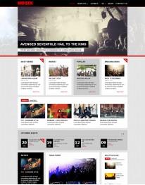 Template Joomla Musicas e Bandas Nozix 3.x