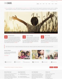 Template Joomla Ongs e Instituiçoes One Cause 3.x