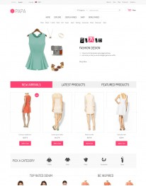 Template Joomla Moda Fashion Papa 3.x