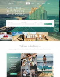 Template Joomla Agencias de Turismo Sienna 3.x
