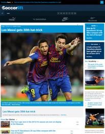 Template Joomla Noticias e Esportes Soccerleft 3.x