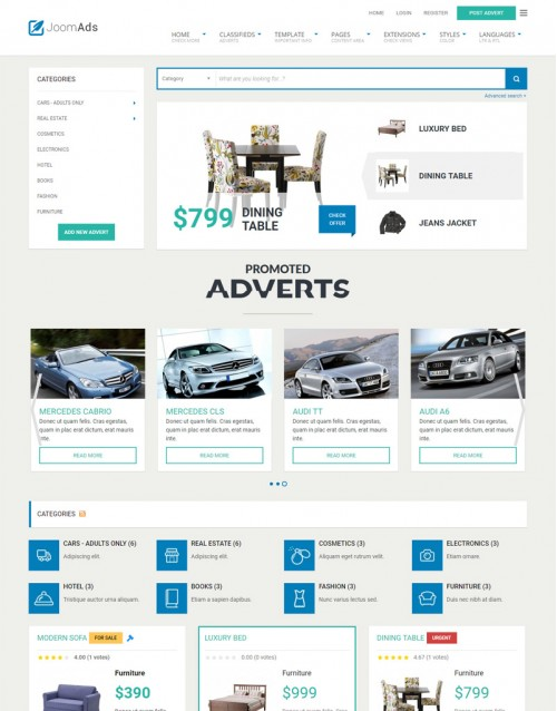 Template Joomla E-commerce JoomAds 3.x