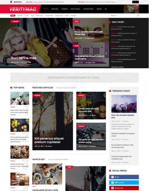 Template Joomla Blog Moda Fashion Veritymag 3.x