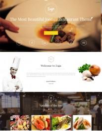 Template Joomla Restaurantes e Gastronomia Zaga 3.x