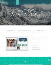 Tema Wordpress Eventos, Negócios, Viagens Accio One page