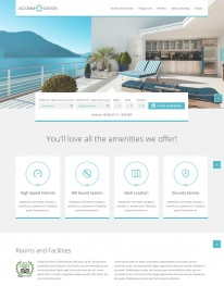 Tema Wordpress Hotéis e Viagens Accommodation One Page