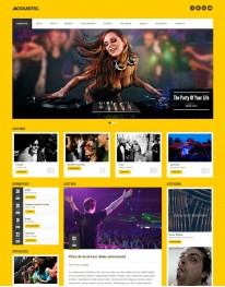 Tema Wordpress Musica, DJs, Banda Acoustic